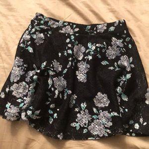 Aeropostale Black Floral Skirt, Never Worn